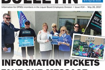 Information pickets take our message across the province - 2017 LBED Bargaining Bulletin #14