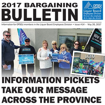 LBED Bargaining Bulletin 14, May 26, 2017