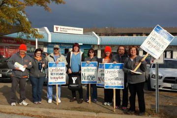 Striking nurses shut CarePartners out of St. Catharines job fair