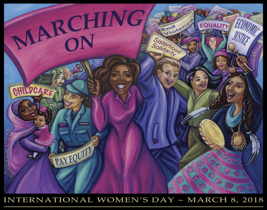Marching on International Women's Day - March 8