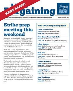 LBED Bargaining Bulletin, News Alert 5