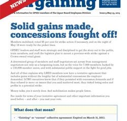 2013 Collective Bargaining: News Alert Issue #9: Contract highlights!
