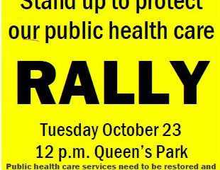 Hands off our health care! NO to cuts and privatization!