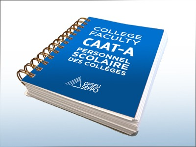 College Faculty CAAT-A Personnel scolaire des colleges OPSEU SEFPO collective agreement