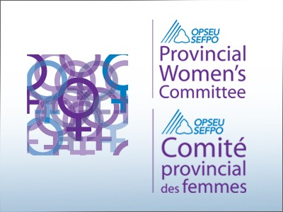 OPSEU Provincial Women's Committee - SEFPO Comite provincial des femmes logo