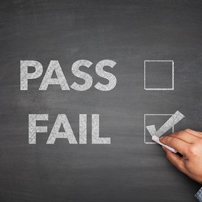 Pass-Fail (checkmark: fail)