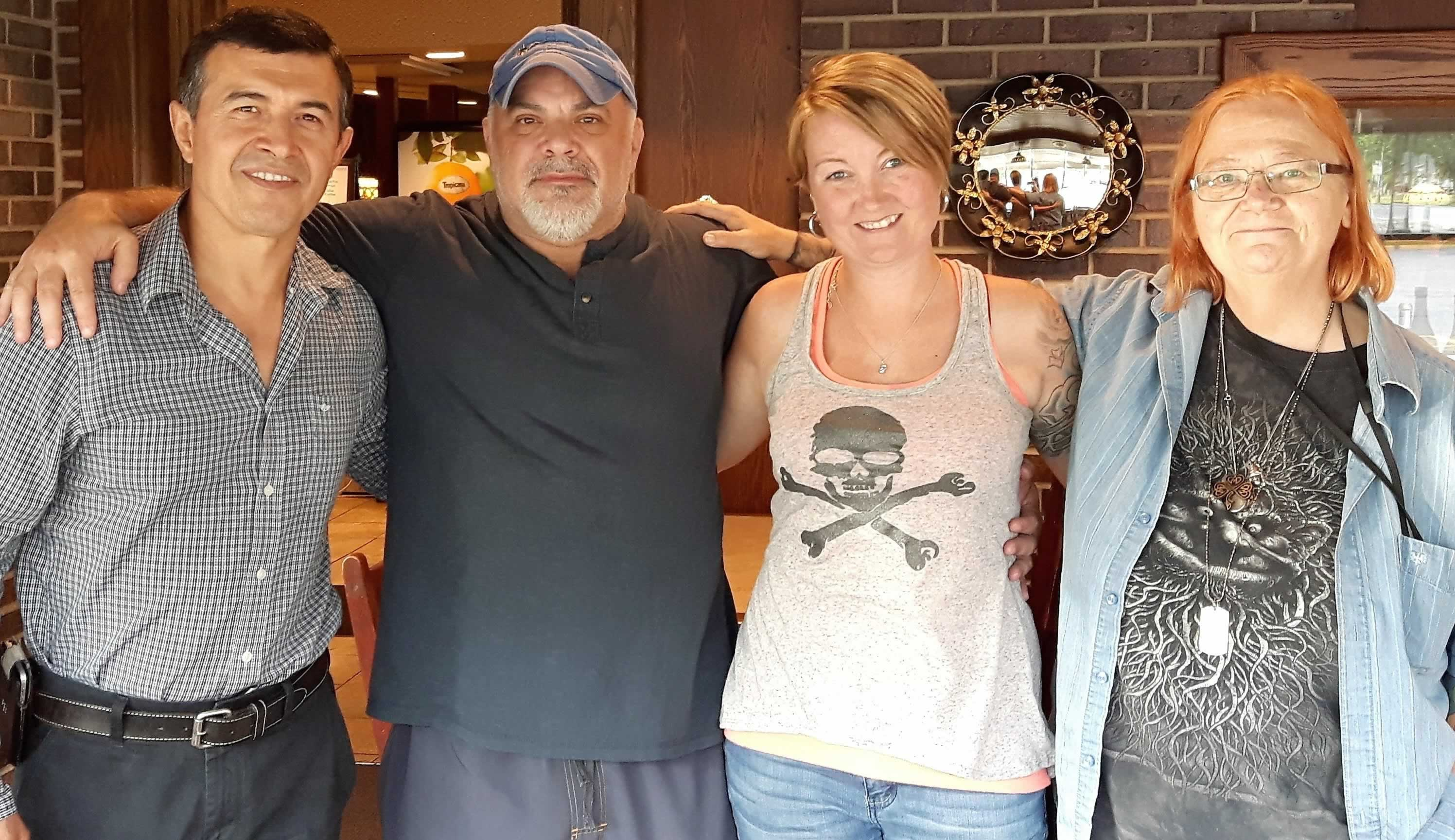 Four happy Rideauwood workers celebrate becoming OPSEU members