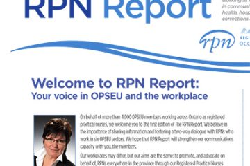 The RPN Report: A newsletter for OPSEU RPNs!