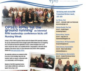 The RPN Report Issue #2: A newsletter for OPSEU Registered Practical Nurses