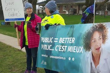 Thomas thanks OPSEU activists and allies for winning 'huge victory' for public services in Grey County
