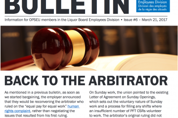Back to the arbitrator - 2017 LBED Bargaining Bulletin, Issue 6