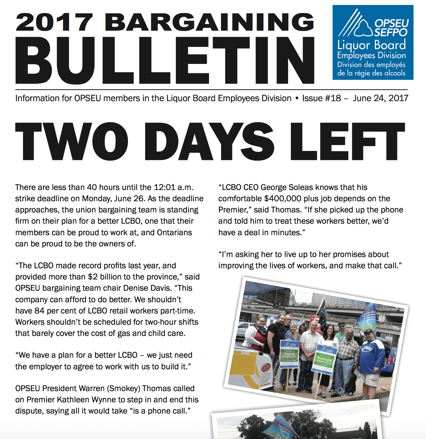 Two Days Left - 2017 LBED Bargaining Bulletin #18