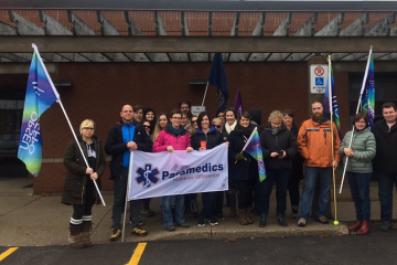 OPSEU protests changes at CACC