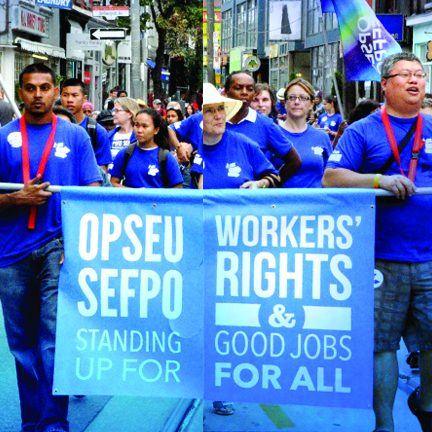 OPSEU members in Labour Day Parade