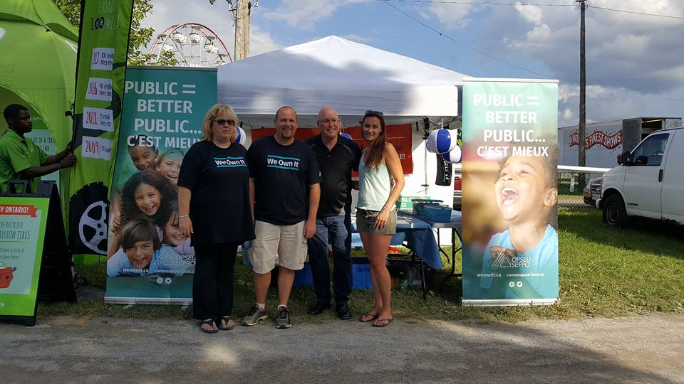 MPP Steve Clark poses with OPSEU We Own It organizers.