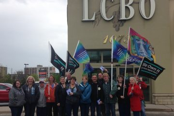 OPSEU members at the LCBO show up in force for information pickets across the province