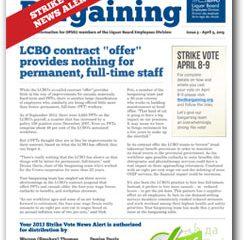 2013 Bargaining Strike Vote News Alert 5