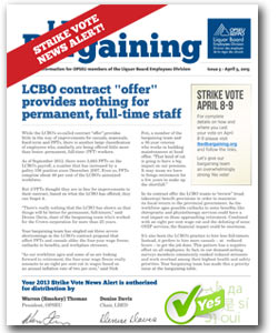LBED Bargaining Bulletin, Strike Alert 5