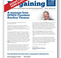 2013 Bargaining Strike Vote News Alert 1