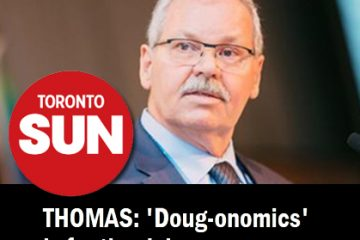 Thomas in the Toronto Sun: 'Doug-onomics is for the rich'