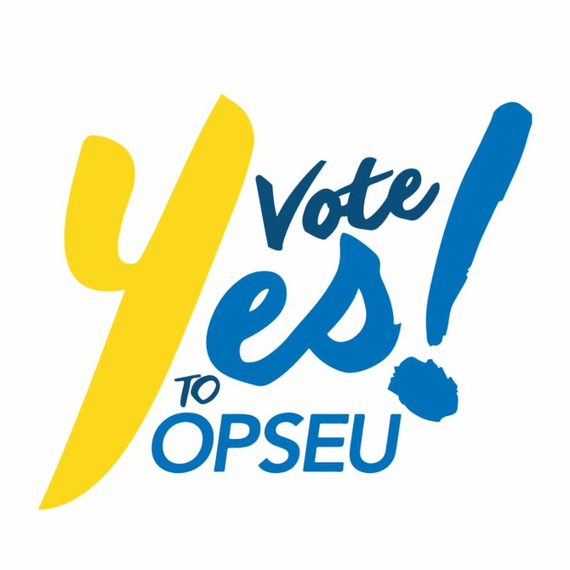 Vote Yes to OPSEU!
