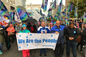 Almeida and OPSEU join thousands at health care rally