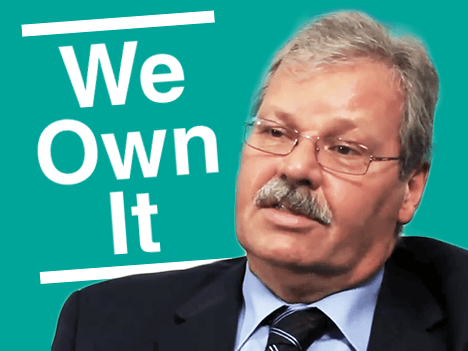 We Own It logo with OPSEU President Warren (Smokey) Thomas