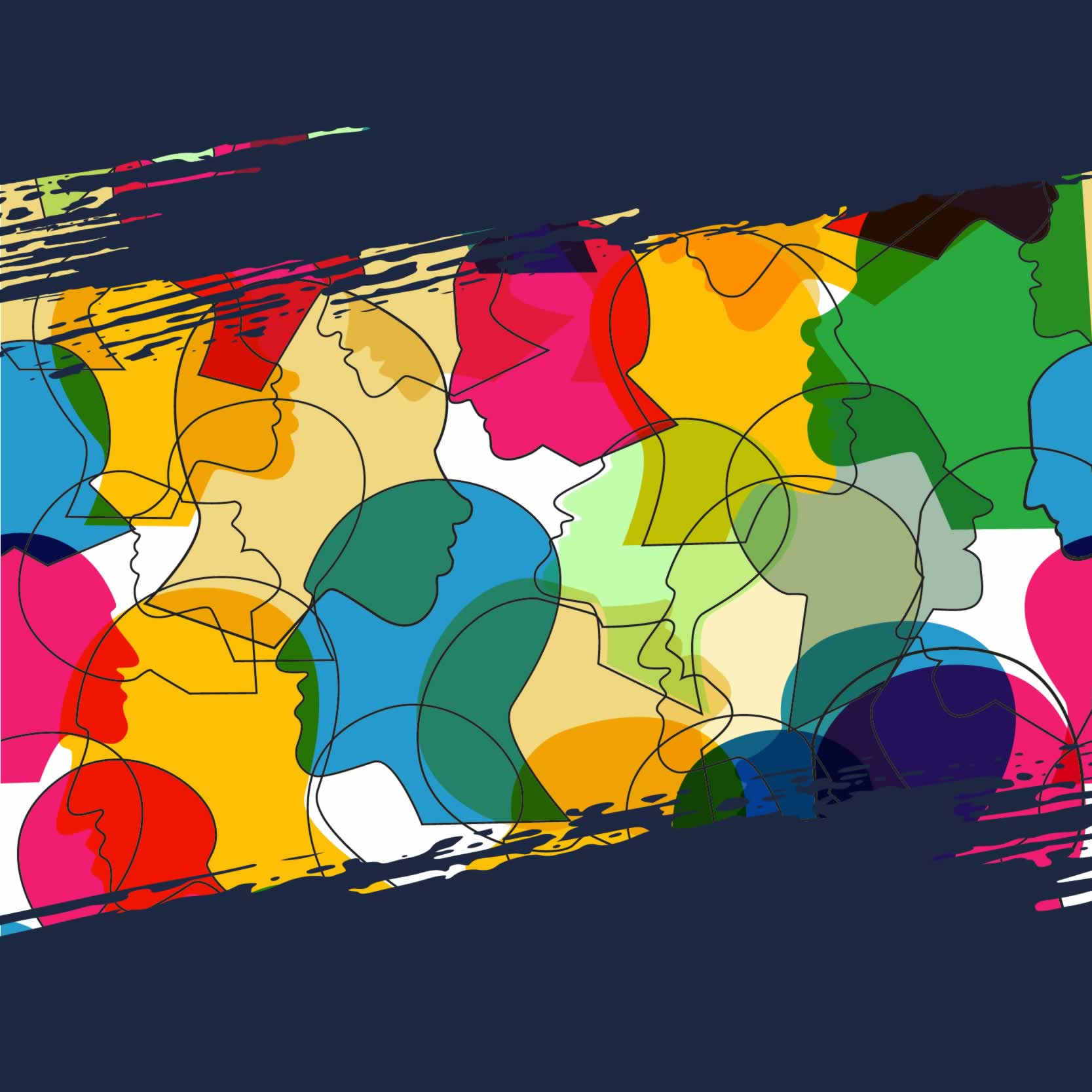 Region 3 equity conference logo/image multicoloured outlines of heads