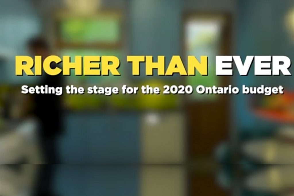 Richer than ever, setting the stage for the 2020 Ontario budget