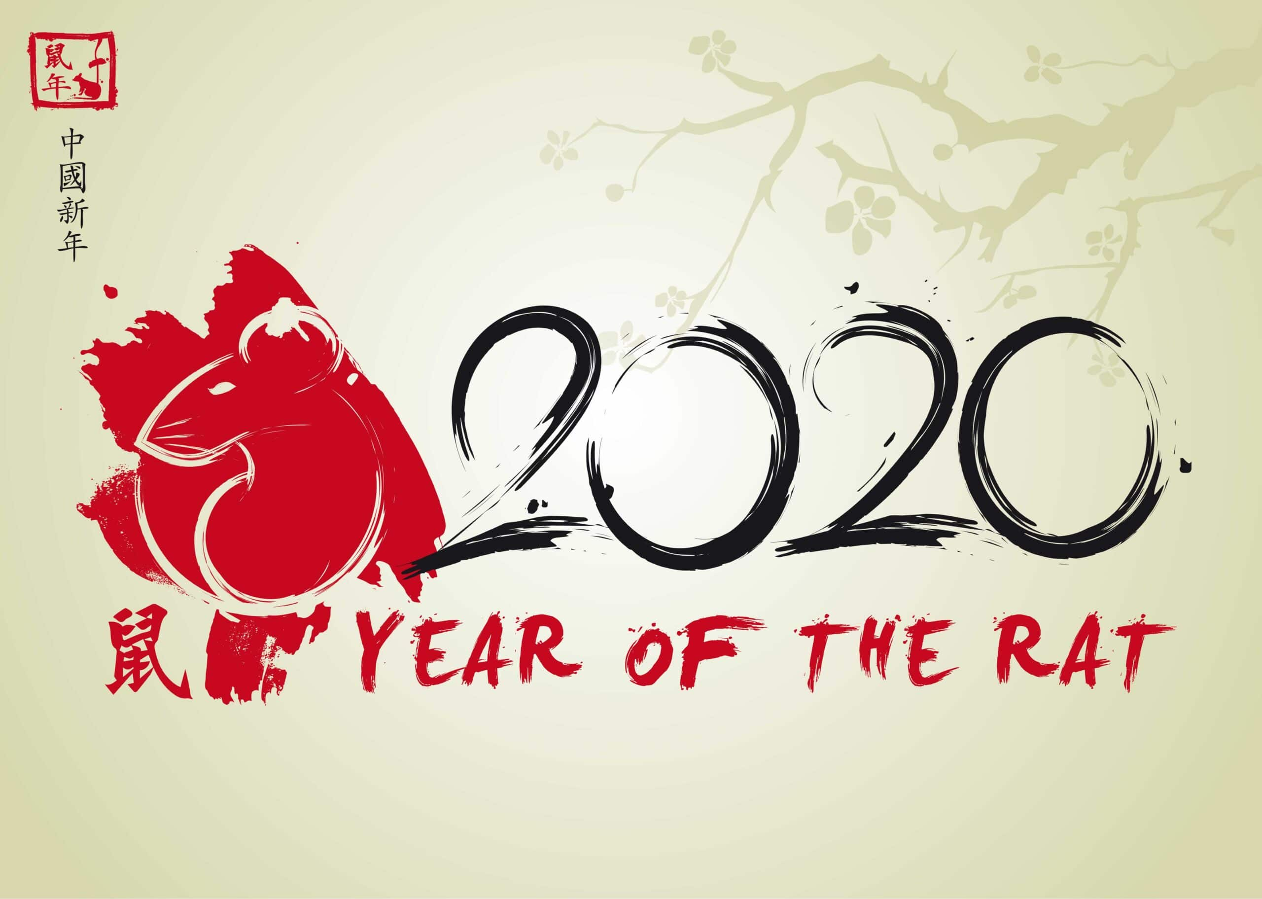 2020 Year of the Rat - annee du rat Chinese New Year l