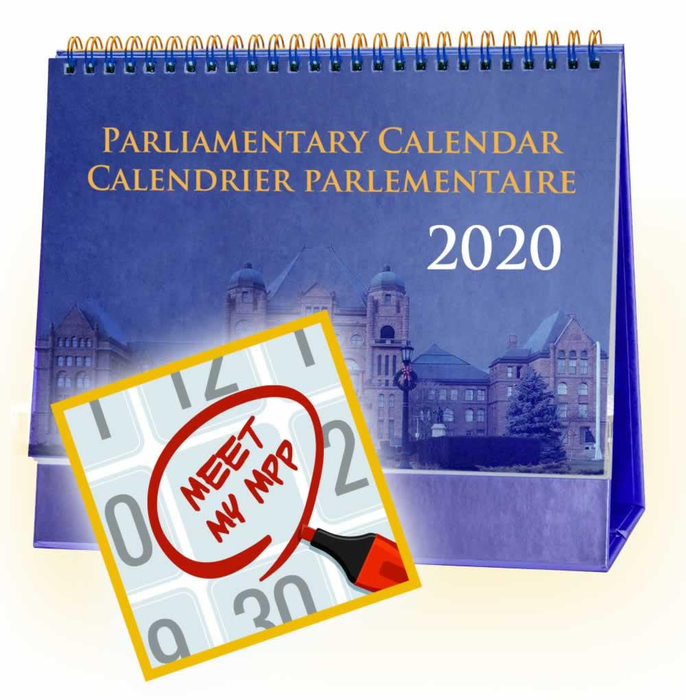 Meet My MPP: Parliamentary Calendar