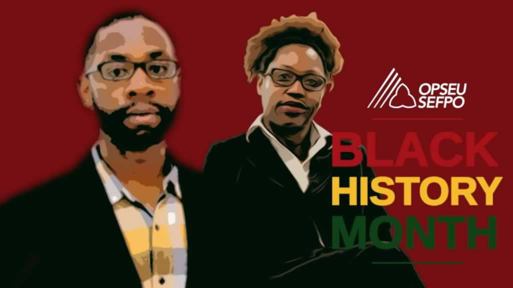 Black history month featuring two member photos