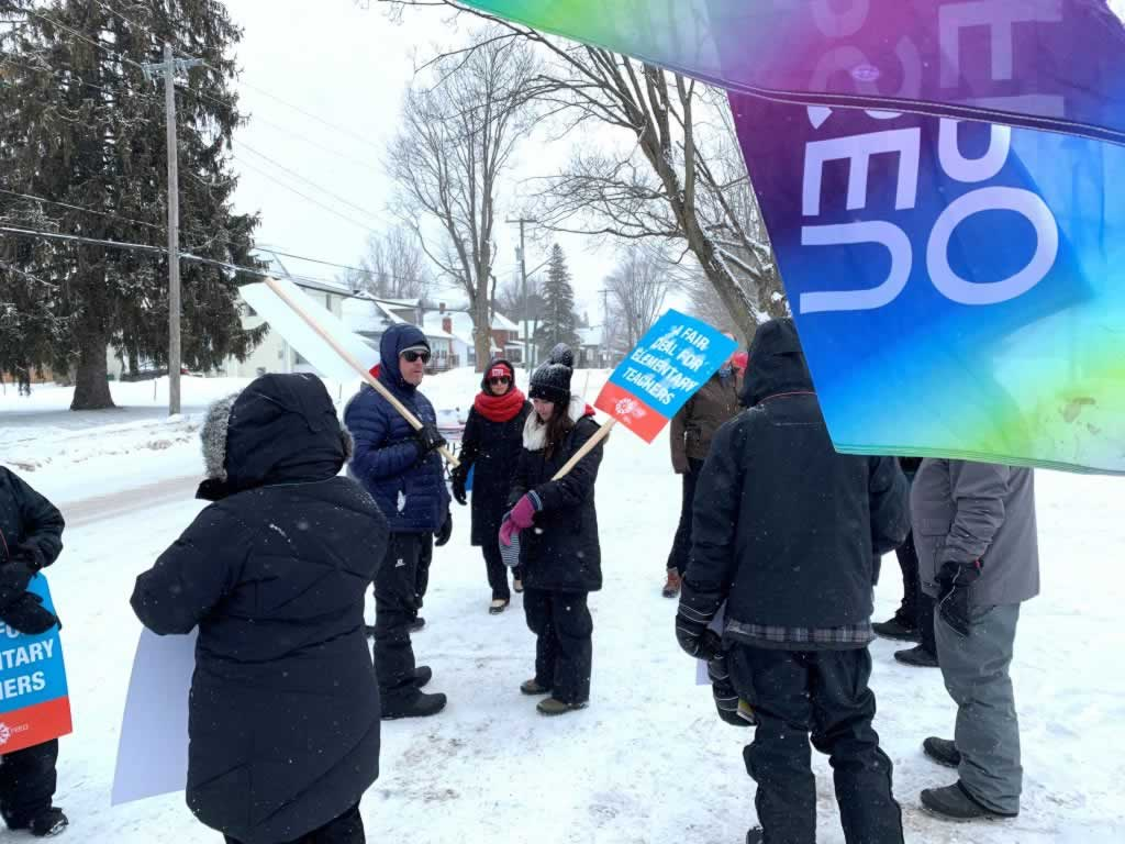 OPSEU walks the walk with ETFO