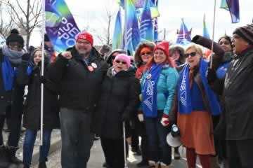 OPSEU joins rally outside Conservative conference
