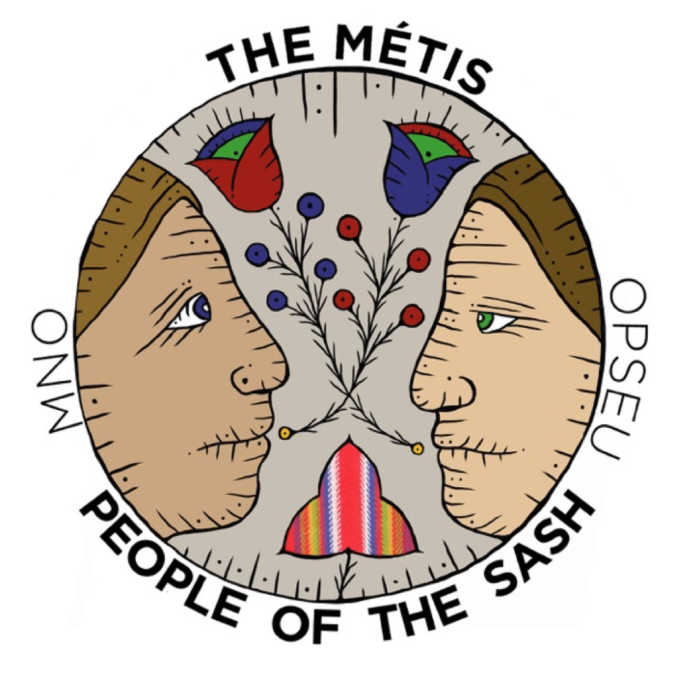 The Metis logo: people of the sash