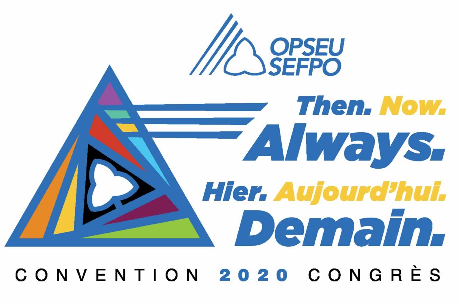 Convention 2020 Congres. Then. Now. Always. Heir. Aujourd'hi. Demain