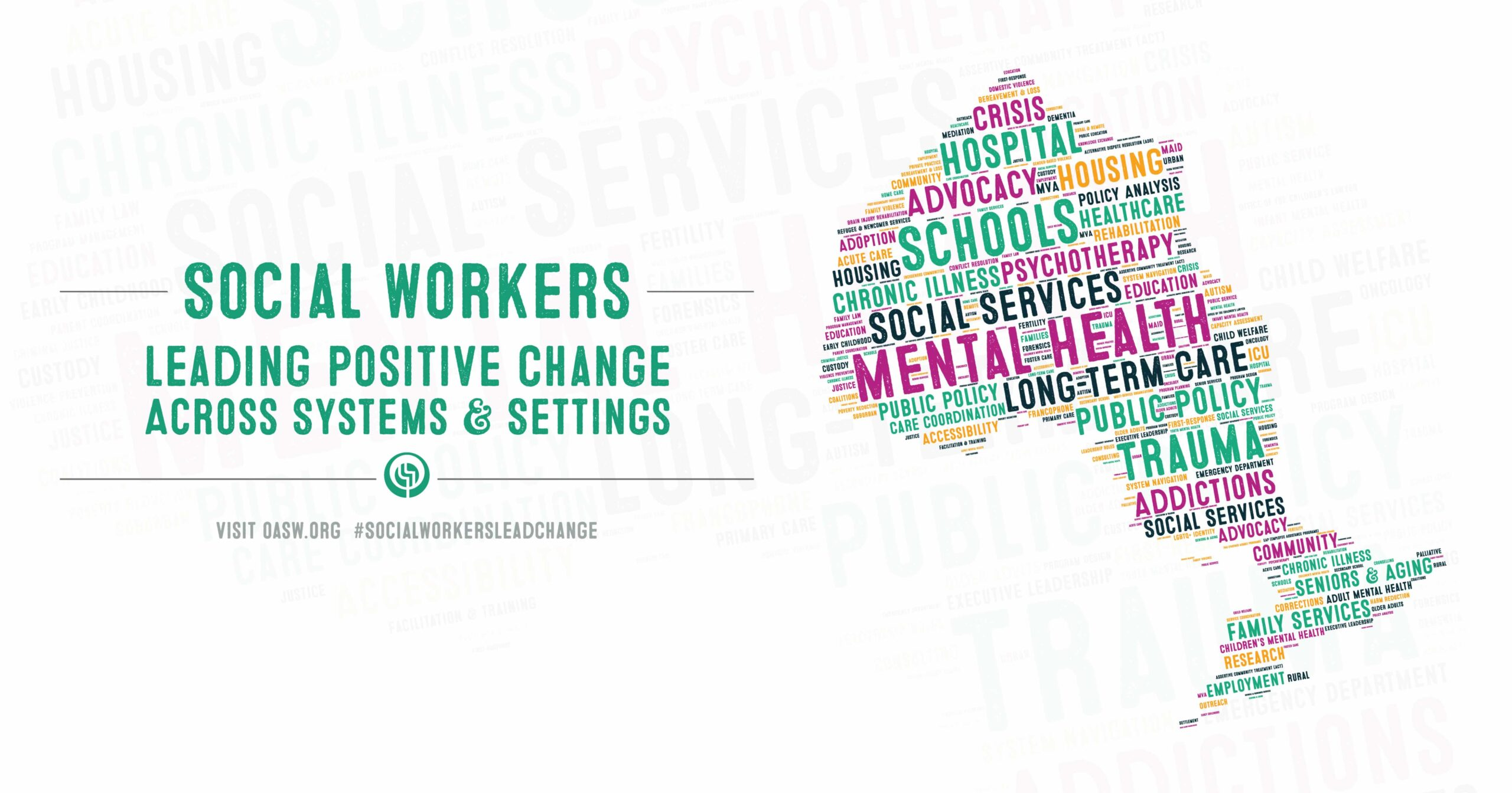 Social workers leading positive change across systems and settings