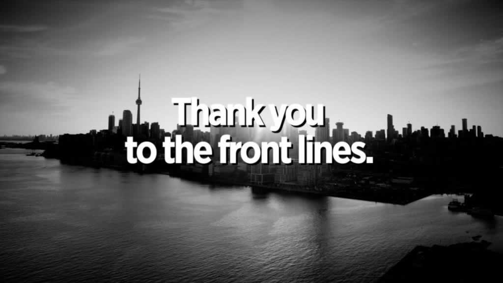 Thank you to the front lines