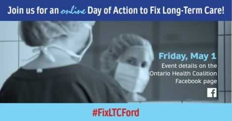 Long Term Care Day of Action One lday of action Friday May 1