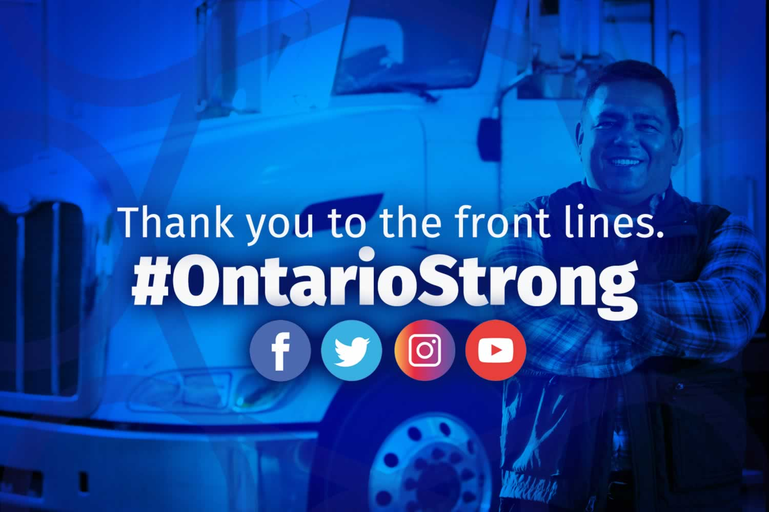 Thank you to the Front Lines: #OntarioStrong