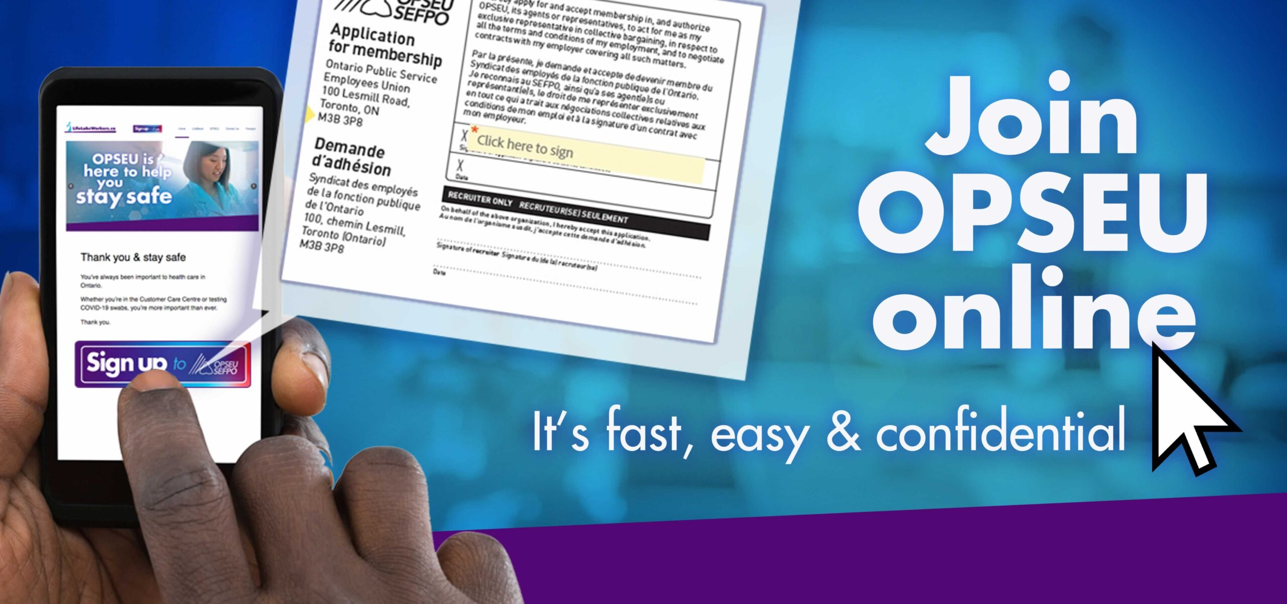 Join OPSEU online, its fast and easy