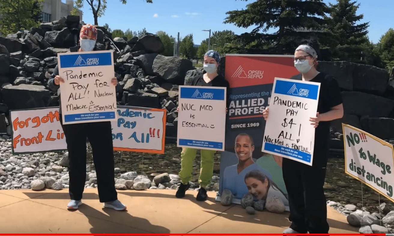 Thunder Bay healthcare workers demand pandemic pay
