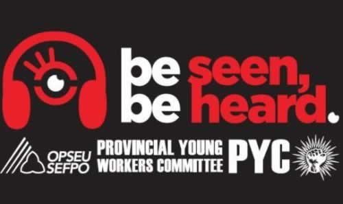 "PYC logo with stylised headphones and message: ""Be seen. Be heard."""