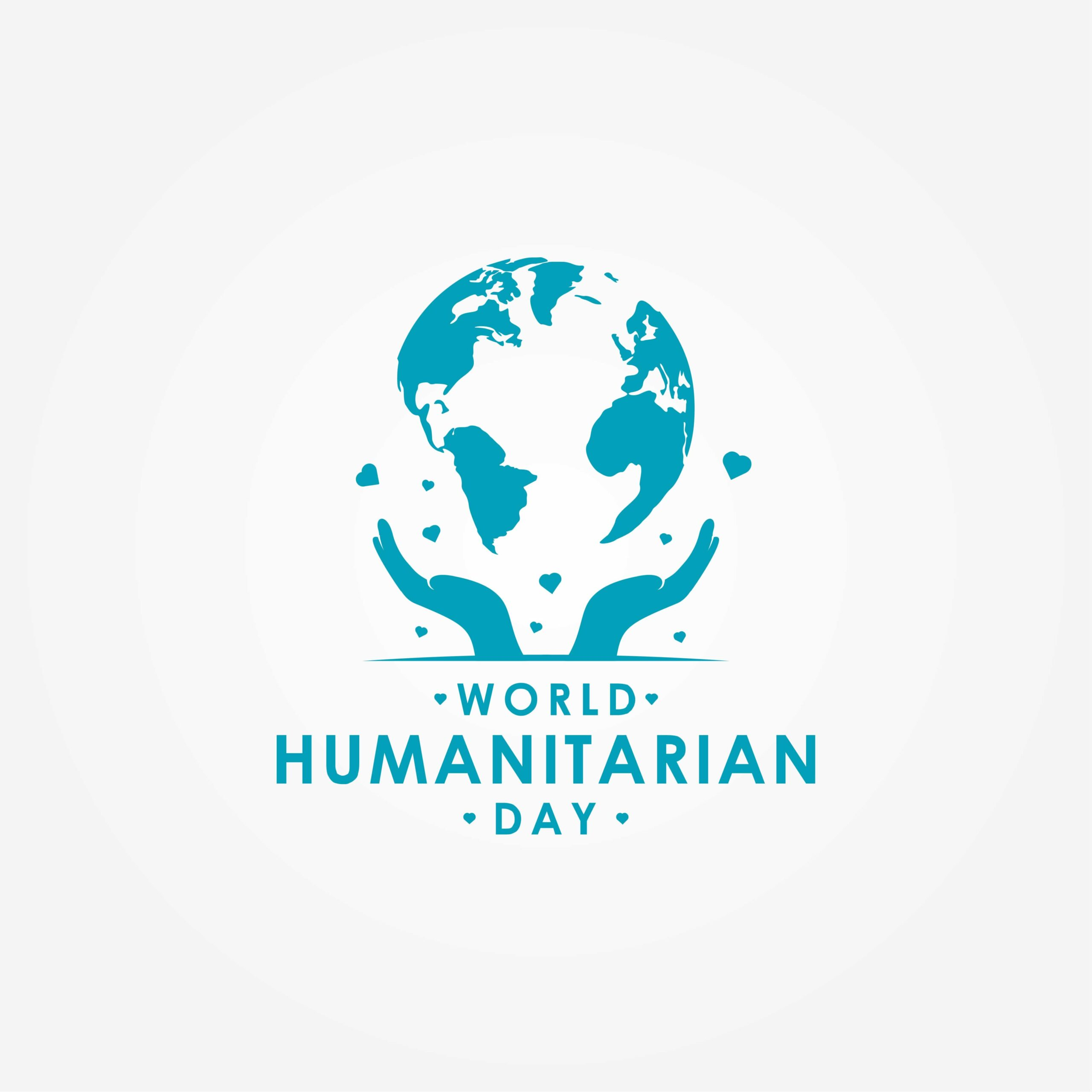 World Humanitarian Day: vector design with image of Globe