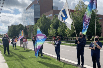 OPSEU joins protest again Bill 195