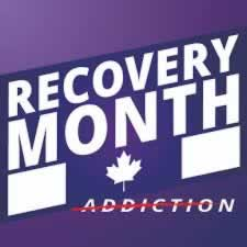 Recover Month with Canada flag