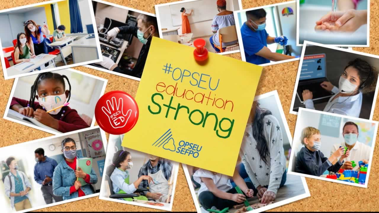 Solidarity with OPSEU's Educational Support Workers!