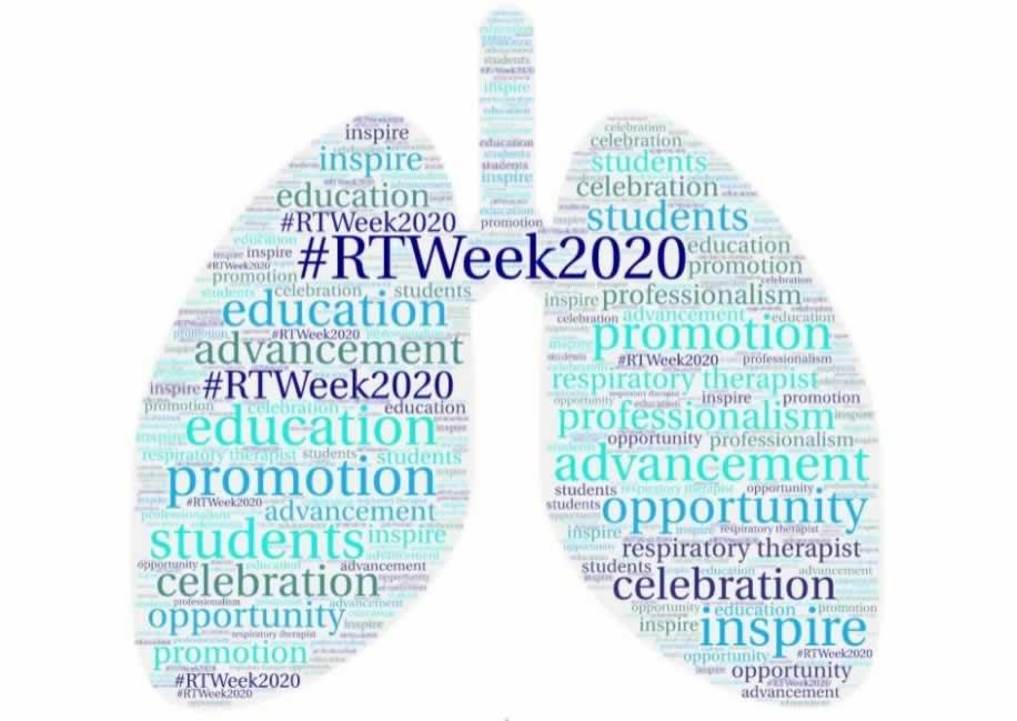 #RTWeek2020 words in shape of lungs
