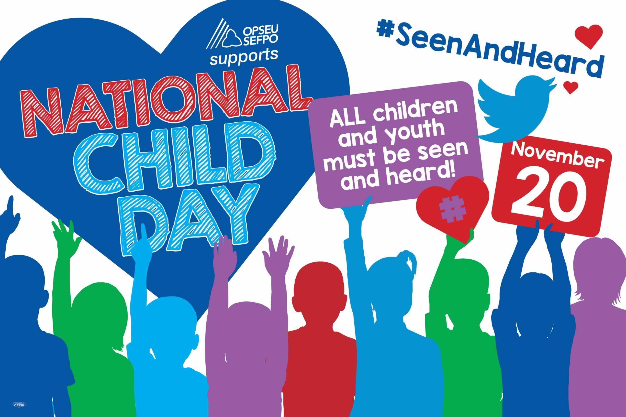 OPSEU/SEFPO supports National Child Day, November 20.