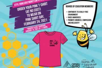 Boards of Education Workers don't delay, order your pink shirt today!